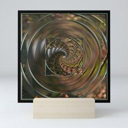 Flower to infinity mandala Mini Art Print