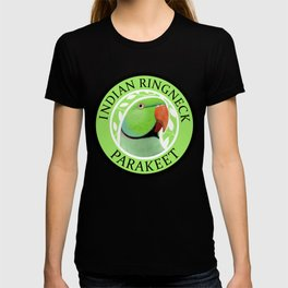 Indian Ringneck Parakeet (Green) T-shirt