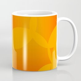 Abstract soap of orange molecules and bubbles on a fruity background. Coffee Mug