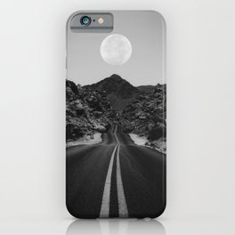 Road Moon BW iPhone Case