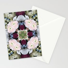 Spring Blooms Kaleidoscope Photographic Pattern #1 Stationery Cards