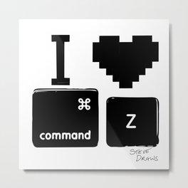 I love Command Z Metal Print