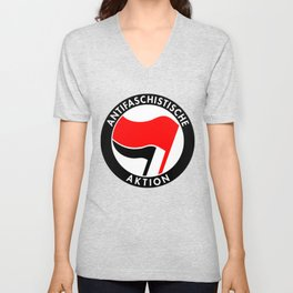 Vintage Germany Antifaschistische Aktion Anti-Fascist Unisex V-Neck