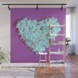 Heart on Lilac Wall Mural