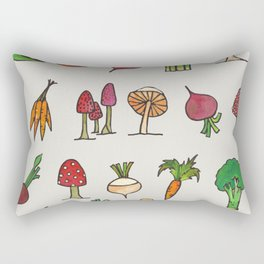 Vegetable Mushroom Fruit Pattern Rectangular Pillow