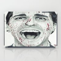 american psycho iPad Cases featuring American Psycho by TYP Portraits