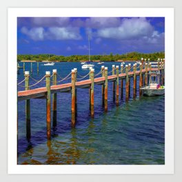 Boat Ramp To Paradise Art Print
