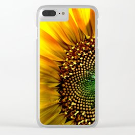 Macro Sunflower Clear iPhone Case