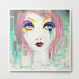 Colorful Gossip Metal Print