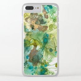 Lime Splash Clear iPhone Case