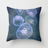 jellyfish Throw Pillows featuring jellyfish by  Agostino Lo Coco