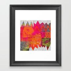 Hot Stuff Abstract Art Collage Framed Art Print