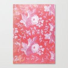 Patterned Silk Rose Canvas Print