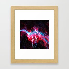 goku and jiren Framed Art Print