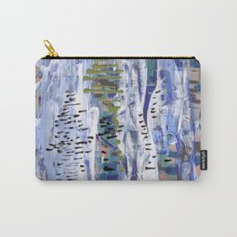 Abstract birches. Carry-All Pouch