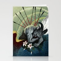 """dragon age Stationery Cards featuring Dragon Age - Qunari - Betrayal by Barbara """"Yuhime"""" Wyrowińska"""