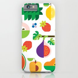 Fruit Medley White iPhone Case
