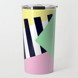Pastels & Crossings - Abstract Art Travel Mug
