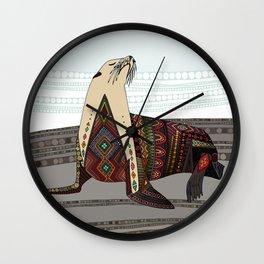 sea lion mono Wall Clock