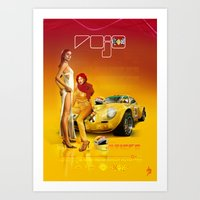 ROJO (DRIVERS) · Renault Alpine Art Print