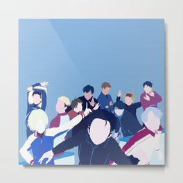 Yuri!!! on Ice Minimalism Metal Print