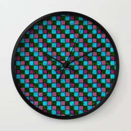 Bodacious Island Paradise and Lush Meadow Patchwork Wall Clock