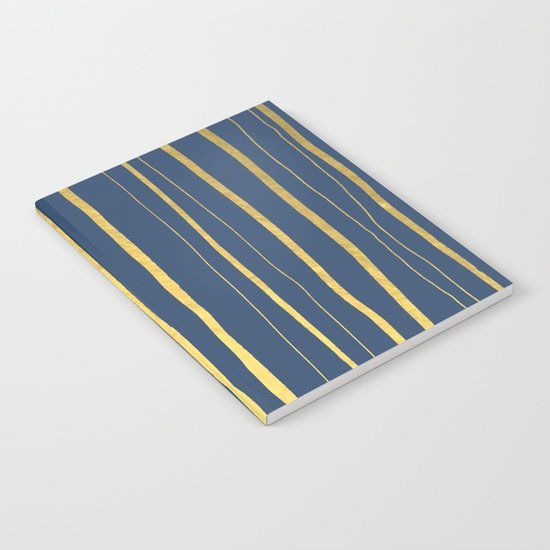 Vertical Living Navy and Gold Notebook