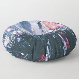 NYC Neon Winter Floor Pillow
