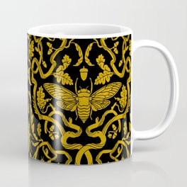 Cicada Oak Damask Coffee Mug