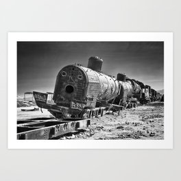 ghost train Art Print