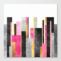 skyline Canvas Prints featuring Skyline by Elisabeth Fredriksson
