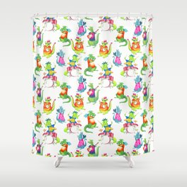 Dragon Band Shower Curtain
