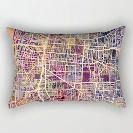 Memphis Tennessee City Map Rectangular Pillow