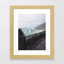 Big Sur Fence Framed Art Print