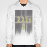 221b Hoodies featuring Sherlock, 221b Baker Street  by anthony m sennett