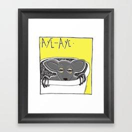 """Aye aye"" Framed Art Print"