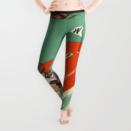 Lake Winnipesaukee - Vintage Poster Leggings