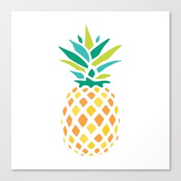 Summer Pineapple Canvas Print
