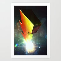 power rangers Art Prints featuring Mighty Morphin Power Rangers by transitoryspace