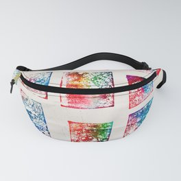 Deck of Cards Monoprint Fanny Pack