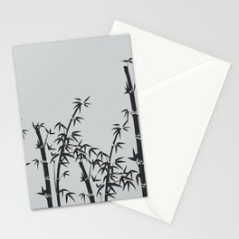 Bamboo black - grey Stationery Cards