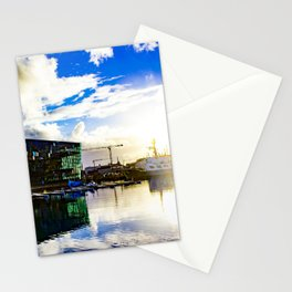 Arctic Circle Sunset Behind a Ship on the Sea behind the Harpa Concert Hall in Reykjavik, Iceland Stationery Cards