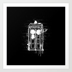 Time Lord Graffiti  Art Print