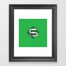Slytherin House Crest Framed Art Print
