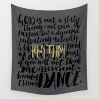 dance Wall Tapestries featuring Dance by Pocket Fuel