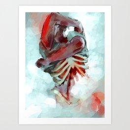 the head; the heart Art Print