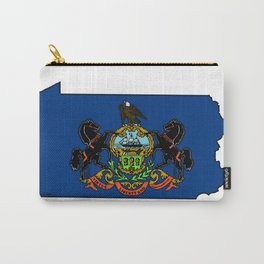 Pennsylvania Map with State Flag Carry-All Pouch