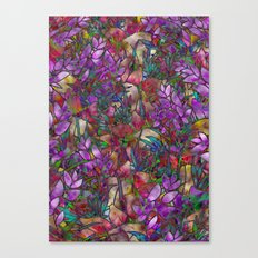 Floral Abstract Stained Glass G175 Canvas Print
