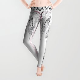 Faces Blossom on a Dried Vine Leggings