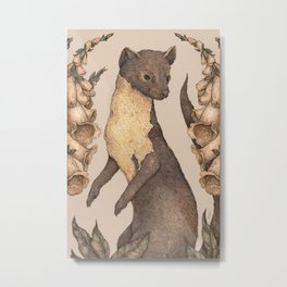 The Marten and Foxglove Metal Print